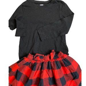 3T Carters Girls Shirt & Skirt Outfit